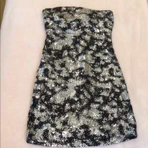 Ruby Rox Silver and Black Dress